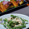 Salmon teriyaki & Japanese omelette (dashimaki-tamago) / 鮭の照り焼きとだし巻きたまご
