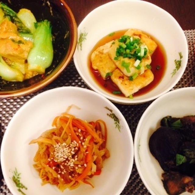 4品のノンオイルと美オイル料理