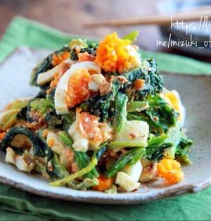 ♡ほうれん草とゆで卵の和風サラダ♡【#副菜#野菜#簡単レシピ#時短#節約】