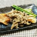 鮭ソテー♡ガリバタきのこソース
