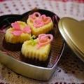 【バレンタイン】2層のハートチョコレート by とまとママさん