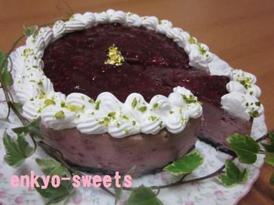 さっぱり濃厚☆ラズベリーチーズケーキ