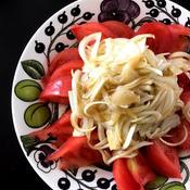 新玉ねぎとトマトの柚子胡椒サラダ