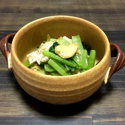 レンジで3分!小松菜と油揚げの煮浸し
