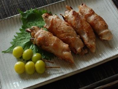 >生姜の佃煮としいたけの豚肉巻き by marronさん