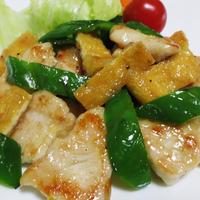 鶏むね肉とお揚げの炒め物<塩ジャン風味>