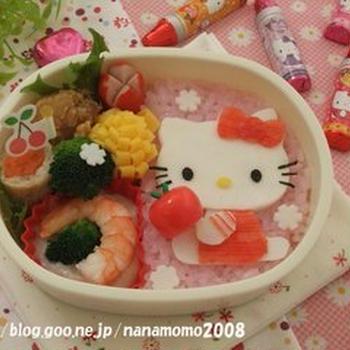 キティちゃんのお弁当 ♪ (キャラ弁)
