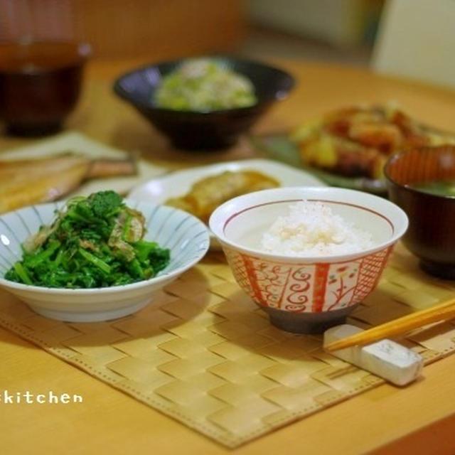 蟹めしのお夕飯と、芍薬その後・・