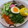 冷凍うどんで夏野菜タップリいただきます!