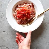 【混ぜるだけ!】生ハムとトマトのサラダパスタ