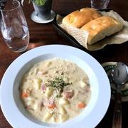 【フライパン1つでスープ】ポテトベーコンチャウダー