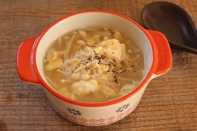 簡単♪えのきと卵の中華スープ