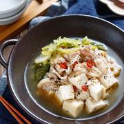 豚バラ白菜のもつ鍋風うま塩スープ煮【#簡単 #時短 #煮るだけ #包丁不要 #温め直しOK #主菜】
