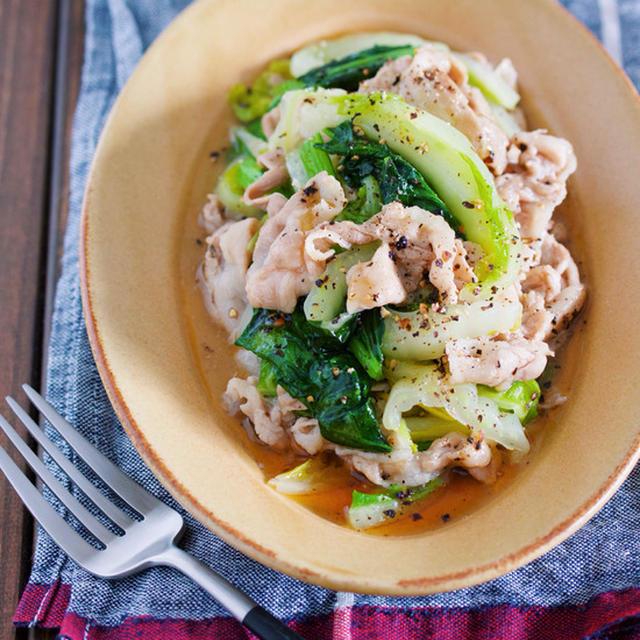とろみづけ不要♪野菜がモリモリ食べれる♪『豚バラと白菜のとろとろ塩だれ炒め』