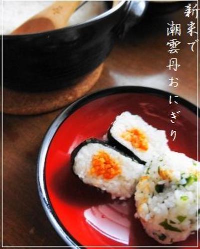 【新米】 土鍋炊き***【潮雲丹おにぎり】