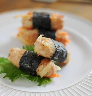 野菜たっぷり!海苔巻きチキン お弁当のお気に入りおかず