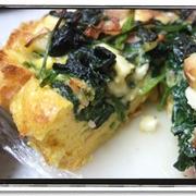 朝食に★ほうれん草とチーズのキッシュ(食パン使用で