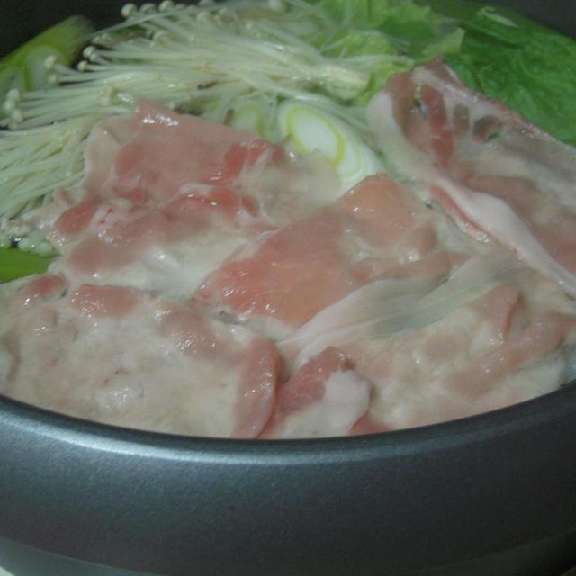 豚しゃぶ鍋&姿 純米吟醸生原酒