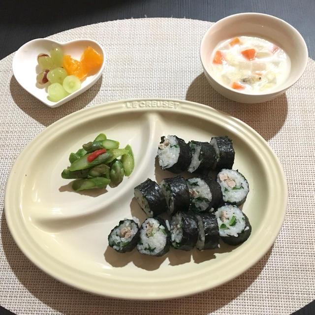 【幼児食】ベジタブルスープのリメイク!あさりのクラムチャウダー