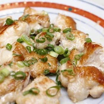 鶏ムネのめんマヨ焼き