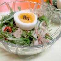 【レシピ】シンプルに!水菜のツナ塩サラダ(^^♪
