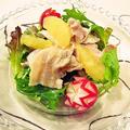 豚肉とグレープフルーツのサラダ