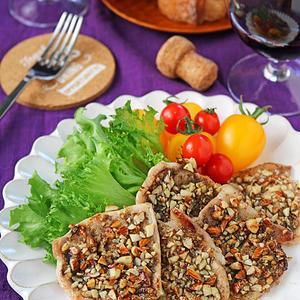 カリカリ香ばしい豚肉の禁断の黒胡椒アーモンド焼き