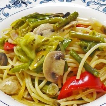 リニューアルしたレシピ その7 R#010 春から初夏の野菜スパゲッティ