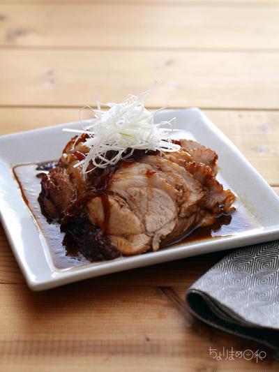 焼き豚(チャーシュー)。(鍋で簡単) と二日分晩ごはん献立。