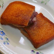 食パンで!餅&あんこ入り揚げパン♪
