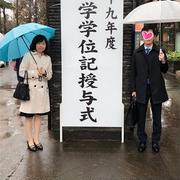雨の卒業式♪