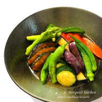 夏野菜をたっぷり召し上がれ♡簡単おいしい〜揚げびたし♡