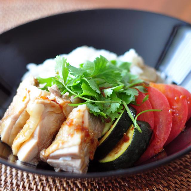 【妊活のコツ】ほったらかし!炊飯器調理でハイナンチーハン(海南鶏飯)