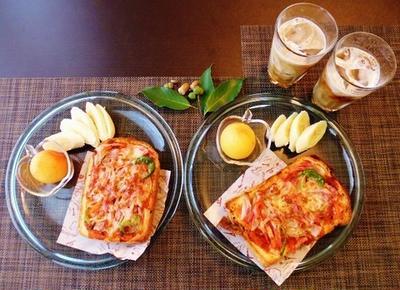 自家製山食パン☆ピザトースト♪~♪