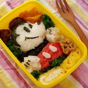 ご飯とおかずでミッキーマウスのキャラ弁当