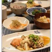 秋鮭のきのこあんかけ*和食ごはん