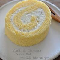 ホワイトチョコとバニラのロールケーキ