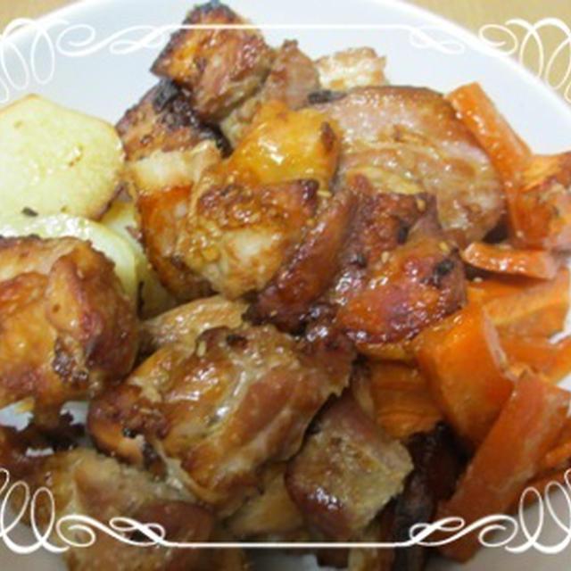 豚バラ肉の香味焼き