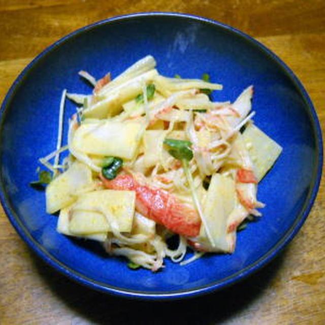 大根とカニカマのサラダ