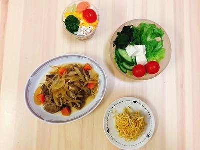 【糖質制限】ダイエットメニュー☆牛ステーキの柔らか煮&切干大根のターメリック和え