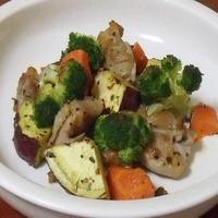 チキンと野菜のカリカリ焼き