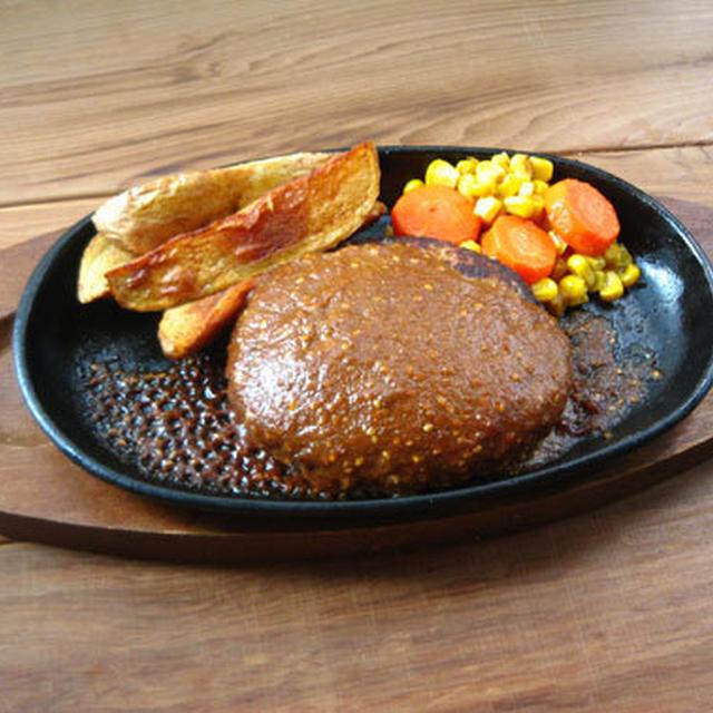 ポークハンバーグ withごま味噌ソース