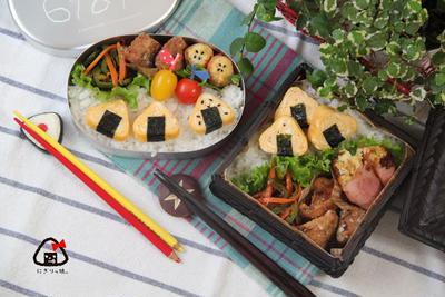 【親子弁】instagramで流行♪可愛い 卵焼きおにぎりと鯖の竜田揚げ弁当