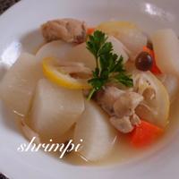 鶏肉と大根の塩レモン煮
