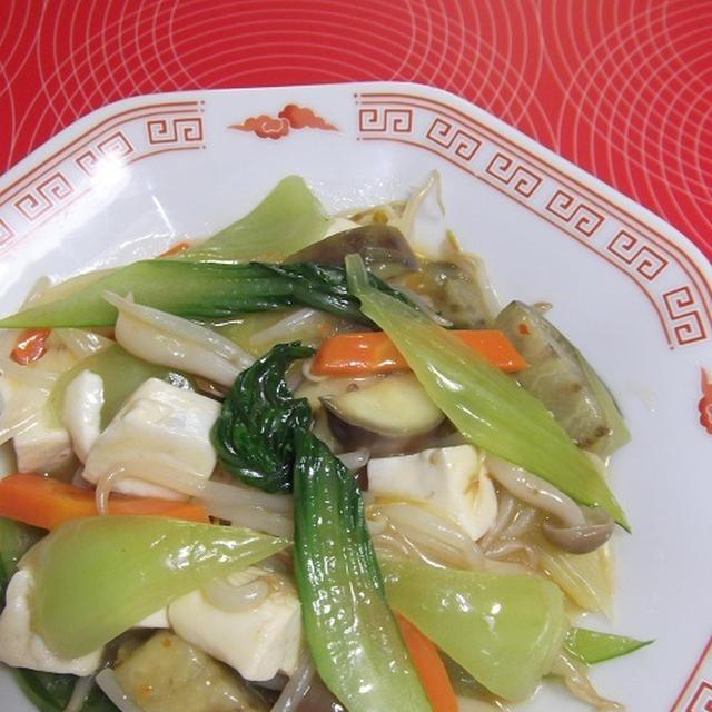 豆腐&野菜の塩豆板醤炒め