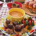 おうちバル♪ チキンと甘栗のピンチョス~ロメスコソース~ by Aya♪さん