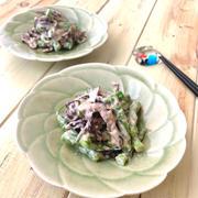 【子どもが食べやすい副菜】免疫力アップ☆キクラゲといんげんの明太マヨ和え♡レシピ