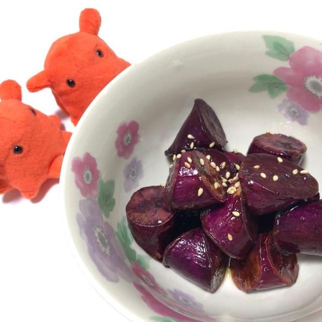 しっとりやわらか!紫芋の大学芋・ストウブで作るさつまいもレシピ/やる気★★★