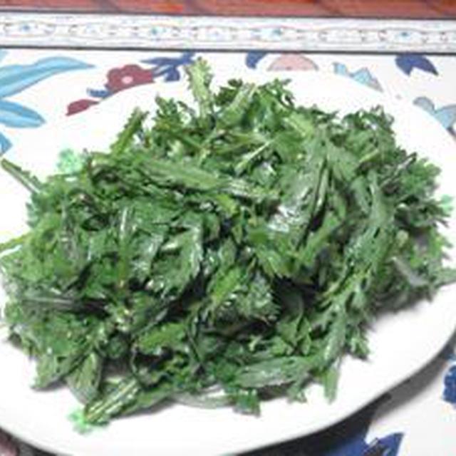 冬野菜の美味しさを感じよう!!春菊のセンチェ