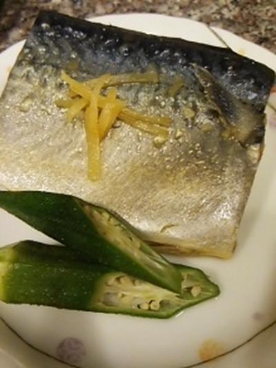 鯖の塩ジャン味噌煮